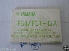 YAMAHA FS1/FS1-DX OWNERS MANUAL ORIGINAL FACTORY IYO-28199-U0 1977 PC8