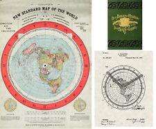 Flat Earth Map 1892 Gleason's New Standard Map of the World Alexander Gleason