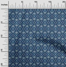 oneOone Ethnic Geometric Flame Stitch Decor Fabric Printed By The Yard -