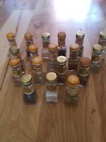 Vintage Watkins Spice Star Glass Bottles Jars Lot of 18 Set