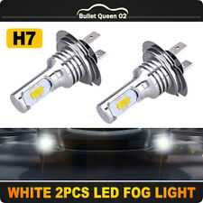 2x H7 LED Headlight Foglight Bulbs Kit Single Beam 70W 8000LM Bright 6000K White