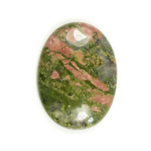 Unakite Cabochon Green/Orange Oval Calibrated 30x40mm Pack Of 1