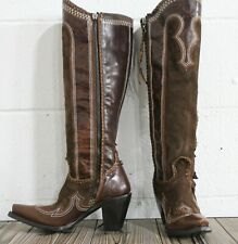 Double D Ranch by Lane Boots Domingo Fringe Women's Western Boots Size 5.5