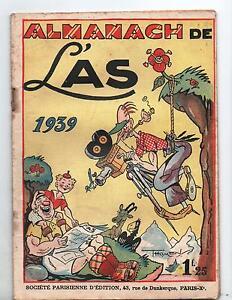 Almanach 1939 de L'AS. Couverture THOMEN.  TBE
