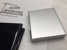 Aluminum Alloy Tri-Fold Cigarette Case Pocket Box - SILVER - 8128