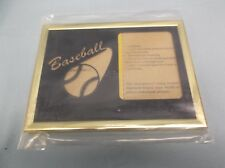 "Baseball photo frame fits 3 x 4 photo black & gold 6 x 8 overall 1/2"" thick"