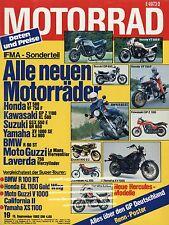 Moto 19/82 1982 bmw r100 RT Hercules Guzzi California Fantic 125 yz490 rm250