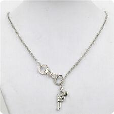 Woman Jewelry Fashion Jewelry Lariat Handcuff Gun Necklace Alloy Antique Jewelry