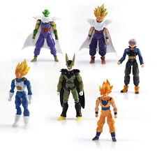 Toy Anime 6pcs Lot DBZ Dragon Ball Z Doll Action Figure Goku Piccolo