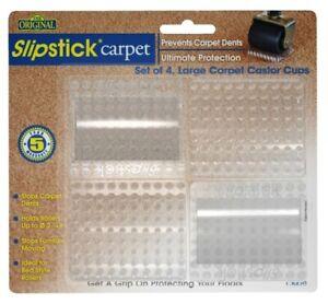 Slipstick Gripper Maximum Protection Carpet Castor Cups, Set of 4
