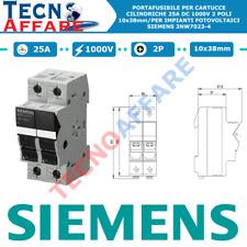 Portafusibile sezionatore 25a DC 1000v 2poli Fotovoltaico Siemens 3nw7023-4