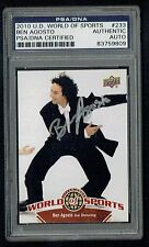 Ben Agosto #233 signed autograph auto 2010 Upper Deck World of Sports PSA Slab