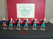 TROPHY MINIATURES BS31 BOXER REBELLION US MARINES ADVANCING TOY SOLDIER SET