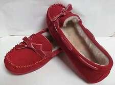 Mocassini Pelle Scamosciata Rossa TAMARAC ROCHELLE Pelo Pelliccia taglia 9 scarp