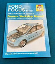 HAYNES FORD FOCUS DIESEL WORKSHOP MANUAL 2005 - 2009 VERY GOOD CONDITION