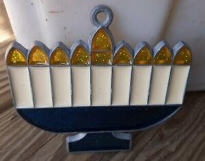 Vintage Suncatcher Menorah Window Decoration Ornament Religious