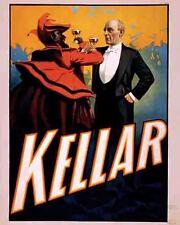 Vintage Antique Rare  POSTER  1920's  KELLAR    Vaudeville  Show  Magic Circus