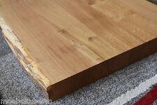 Waschtisch Platte Tischplatte Eiche Massiv Holz Tisch Brett 5,5cm mit Baumkante