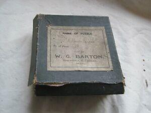 ULTRA RARE Antique JIGSAW by W. G. BARTON of A Flower Garden 80 Piece WOODEN