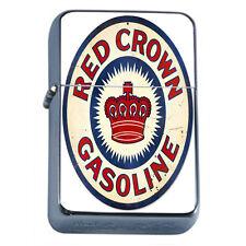 Vintage Poster D257 Flip Top Oil Lighter Wind Resistant Flame Red Crown Gasoline
