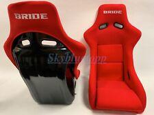 PAIR - 2 BRIDE ZETA II Low Max RED Pair Bucket Racing Seats JDM Vios Recaro Momo