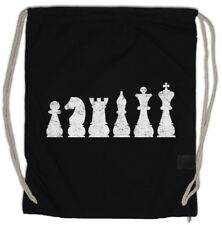 Chess II Drawstring Bag Checkmated King Queen Rook Bishop Knight Pawn Tournament