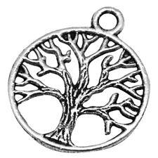 10 pieces Tibetan Silver Alloy Charm Pendants - Tree - A0880