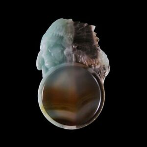 Carved Amazonite Native American & A Gem Bead GE609026
