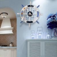 Large 18'' Fishing Net Shell Room Decor Nautical Beach Boat Ship Steering Wheel