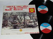 SHELL VOUS OFFRE UN MERVEILLEUX MONDE MUSICAL 2-LP Gas Oil Christmas Noel Vinyl