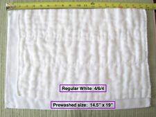 100% Cotton Chinese Dsq prefold diapers Regular (Large) 4/6/4 white On Sale!