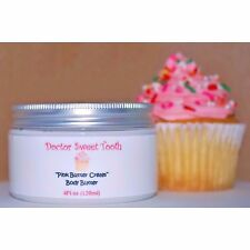 PINK SUGAR BUTTER CREAM Whipped Scented Body Butter w/ Argan Oil (PARABEN FREE)