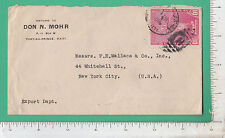 9745 F E Wallace cover 1940 Haiti Statue Liberty stamp Don N Mohr Port-Au-Prince
