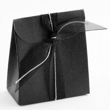 Black Silk Sacchetto Box PACK OF 10 Wedding Favour Gift 13770