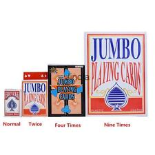 JUMBO EXTRA LARGE GIANT PLAYING CARDS POKER CARD LARGE PARTY GAME TOY MAGIC
