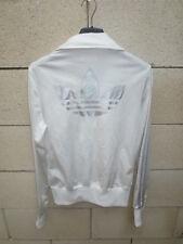 Veste ADIDAS rétro vintage girl femme blanc argenté TREFOIL jacket 34 tracktop