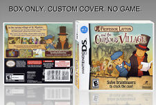 NINTENDO DS : PROFESSOR LAYTON. ENGLISH. COVER CUSTOM + ORIGINAL BOX. (NO GAME).