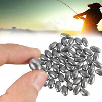 Top 100pcs Olive Shape Lead Sinkers Pure Lead Making Fishing Sinker Pip 1g~10g