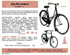 Raleigh Antique Bicycle1910 - 1930 Women's All Weather bike - black -