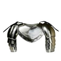 Medieval Gorget Spaulders Arm & Shoulder Set Re-enactment Knight  Pauldrons