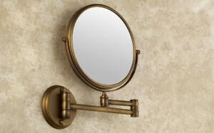 Bathroom Accessories Antique Brass Wall Mount Beauty Makeup Round Mirror 2ba627