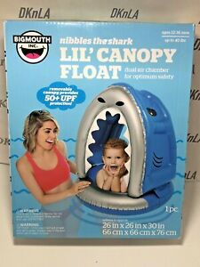 BIGMOUTH INC. Nibbles the Shark Vinyl Lil' Canopy Float - Ages 12 to 36 months
