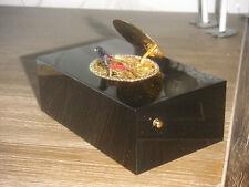 Vintage Reuge Swiss Singing Bird Box Musical Automaton Singvogel Dose Spieluhr