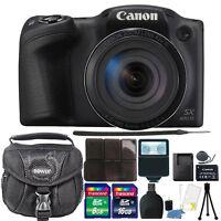Canon PowerShot SX420 IS HD Wi-Fi 20MP Digital Camera 24GB Accessory Kit Black