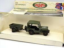 Solido Militare 1/43 - Jeep + Rimorchio americano esercito