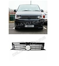 VW T5 GP Grill Facelift 09-15 Kühlergrill Frontgrill Glanz Schwarz Chrome leiste