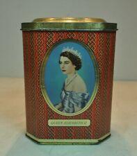QUEEN ELIZABETH II CORONATION SOUVENIR TIN BOX 1953 ENG