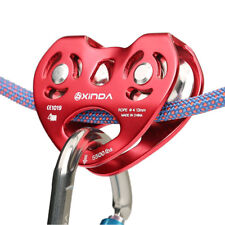 Zip Line Trolley Pulley 25Kn / 5500Lbs Aluminum Rock Climbing Rescue Dual Pulley