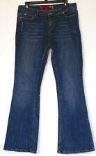 Guess Boot Cut Distressed Stretch Denim Blue Jeans 31