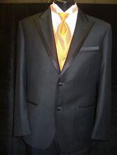 Black Tuxedo - 2 Button Framed Edge Peak 903, Super 150's Imported Man Made
